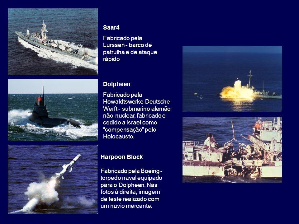 Saar4 Fabricado pela Lurssen - barco de patrulha e de ataque rápido. Dolpheen.