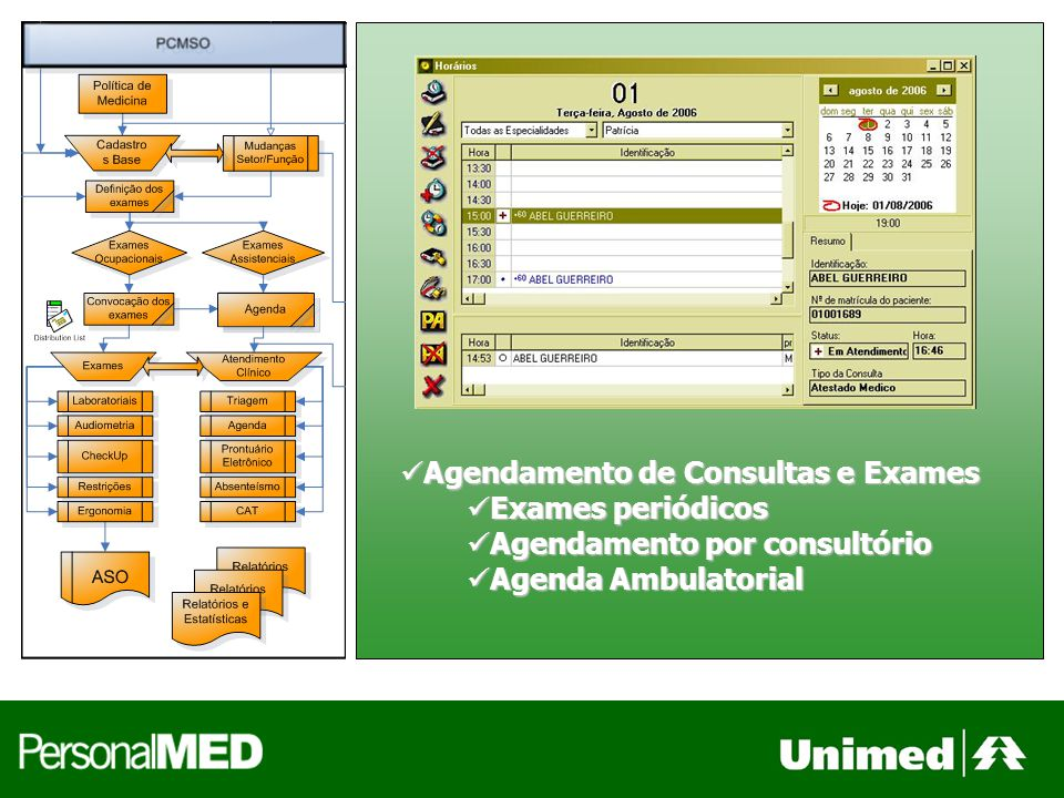 Agendamento de Consultas e Exames