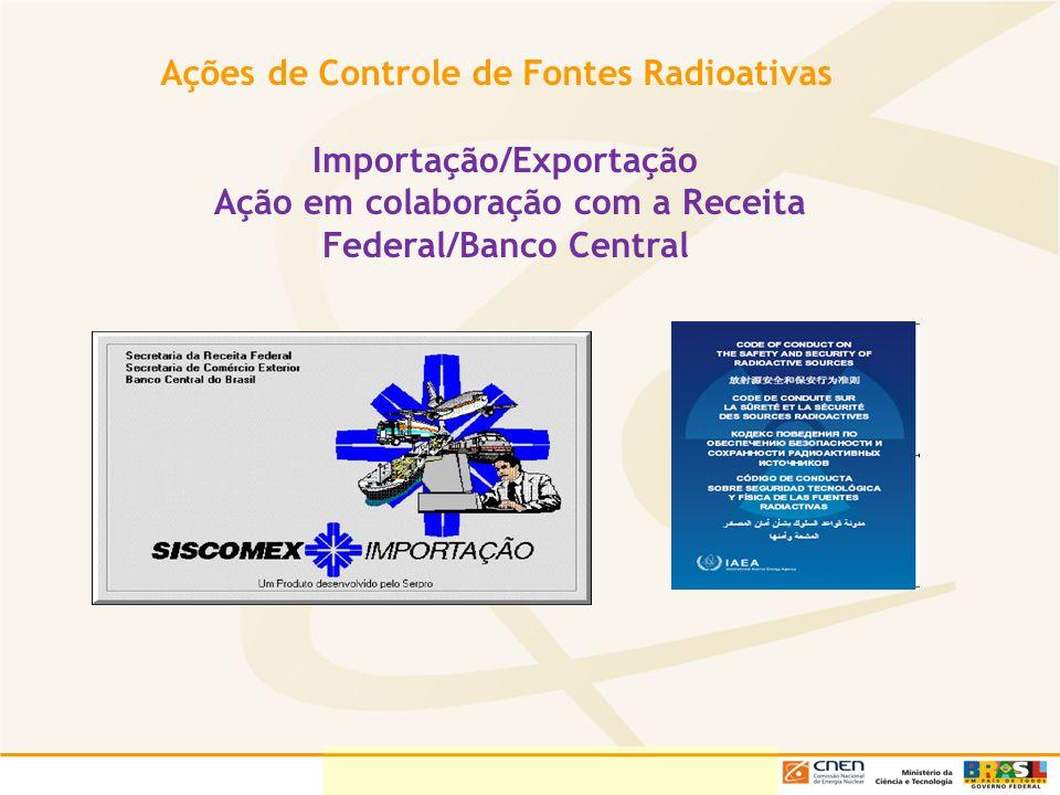 Ações de Controle de Fontes Radioativas