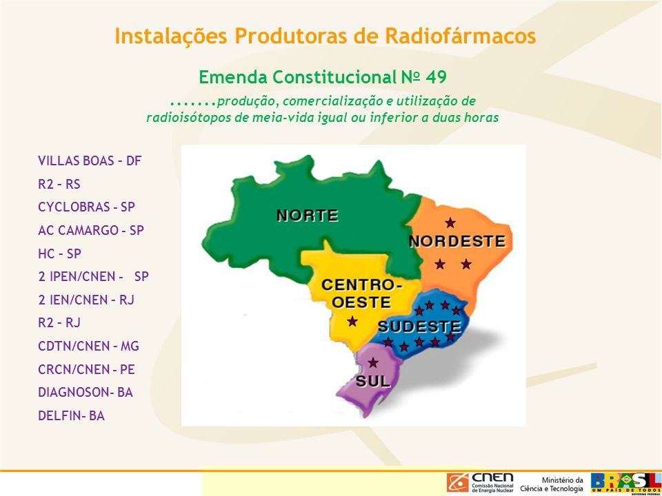 Instalações Produtoras de Radiofármacos Emenda Constitucional No 49
