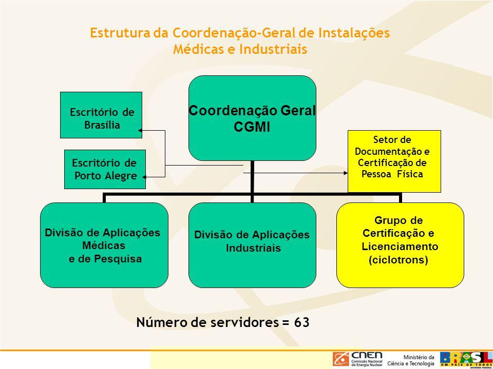 Estrutura da Coordenação-Geral de Instalações Médicas e Industriais