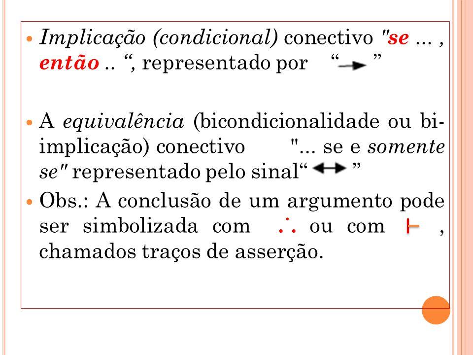 Implicação (condicional) conectivo se. , então