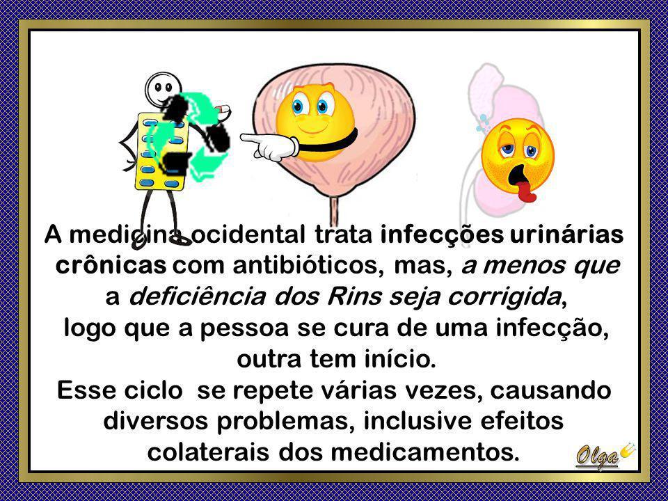 A medicina ocidental trata infecções urinárias