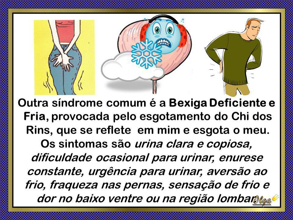 Outra síndrome comum é a Bexiga Deficiente e