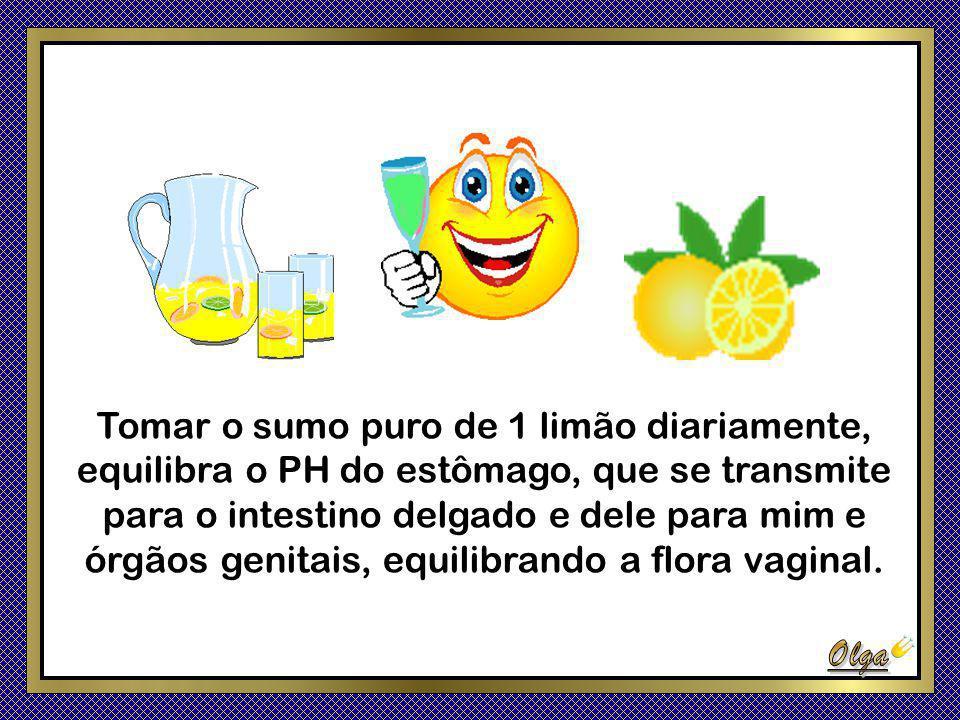 Tomar o sumo puro de 1 limão diariamente,