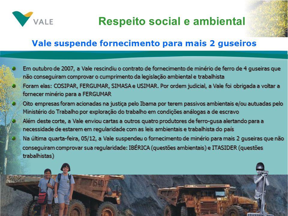 Respeito social e ambiental