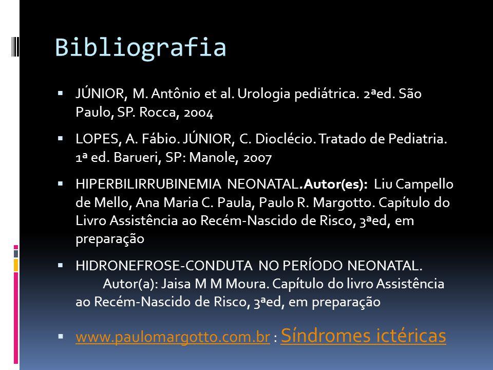 Bibliografia www.paulomargotto.com.br : Síndromes ictéricas