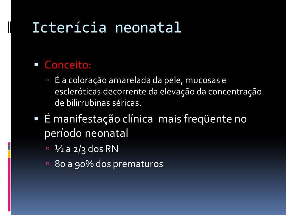 Icterícia neonatal Conceito: