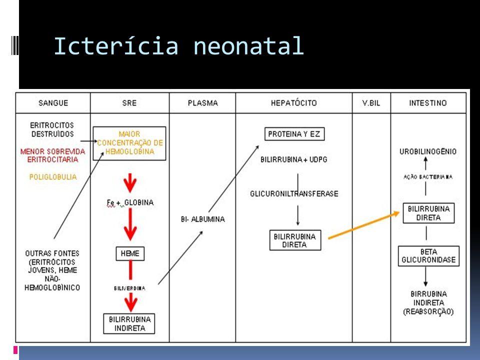 Icterícia neonatal Etiologia Aumento da produção
