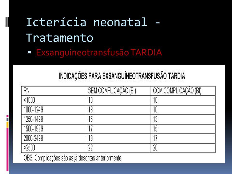 Icterícia neonatal - Tratamento