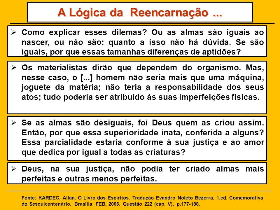 A Lógica da Reencarnação ...