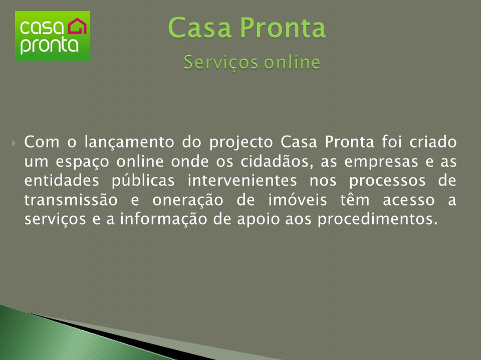 Casa Pronta Serviços online