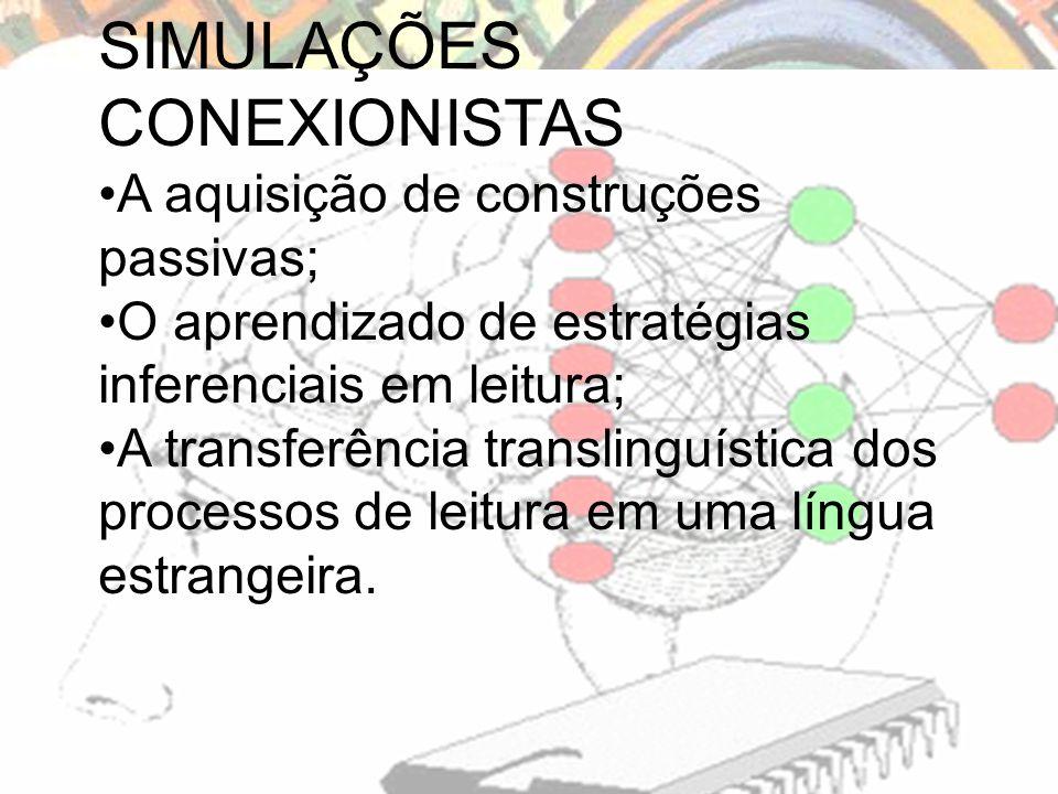 SIMULAÇÕES CONEXIONISTAS