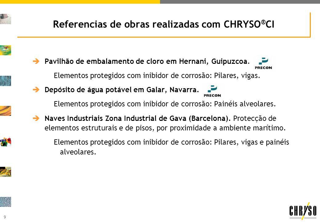 Referencias de obras realizadas com CHRYSO®CI