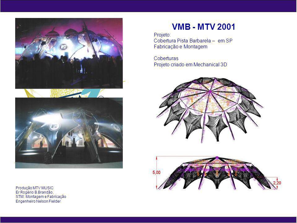 VMB - MTV 2001 Projeto: Cobertura Pista Barbarela – em SP