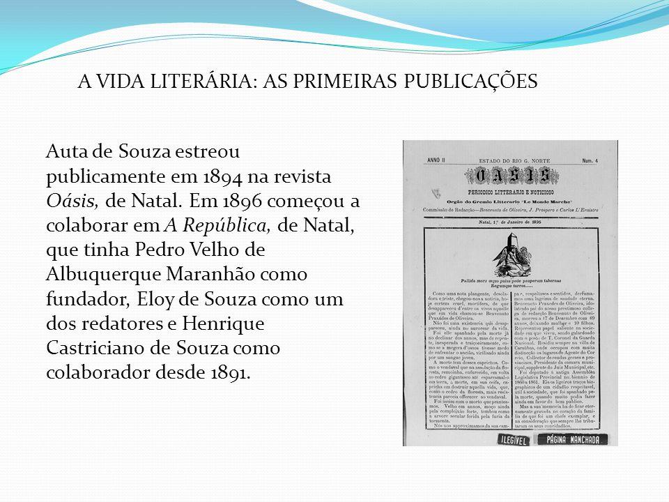 A VIDA LITERÁRIA: AS PRIMEIRAS PUBLICAÇÕES