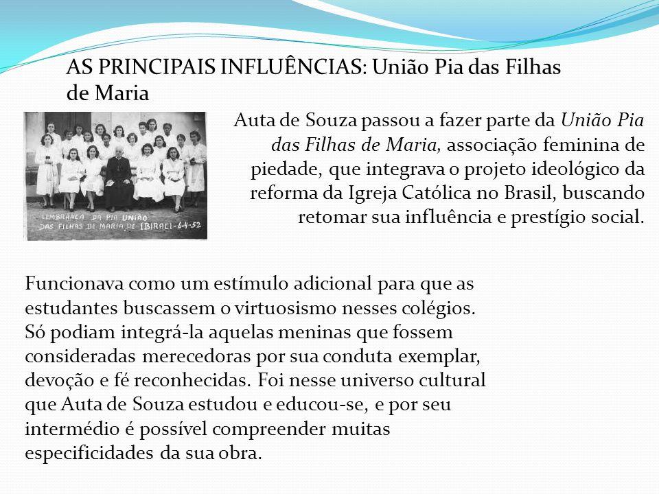 AS PRINCIPAIS INFLUÊNCIAS: União Pia das Filhas de Maria