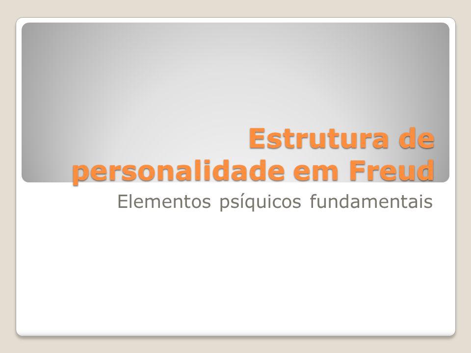 Estrutura de personalidade em Freud