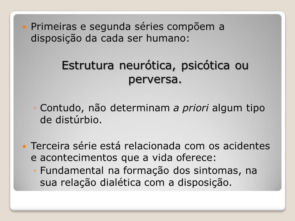 Estrutura neurótica, psicótica ou perversa.