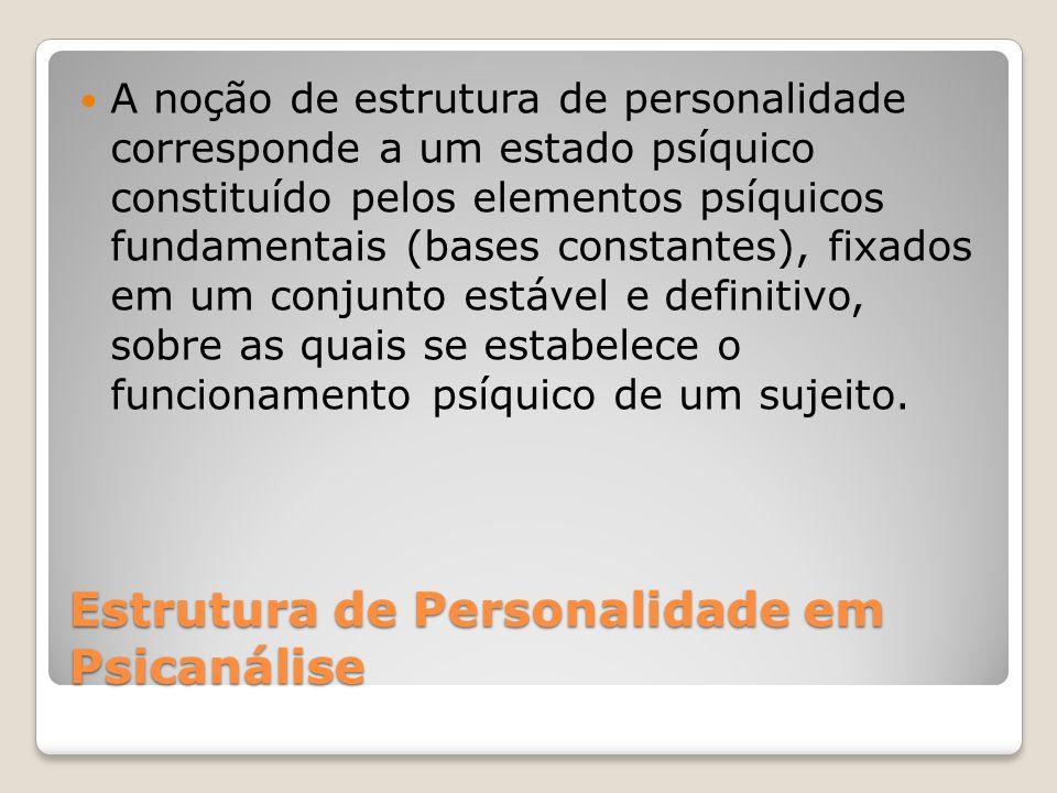 Estrutura de Personalidade em Psicanálise