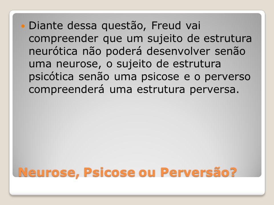 Neurose, Psicose ou Perversão