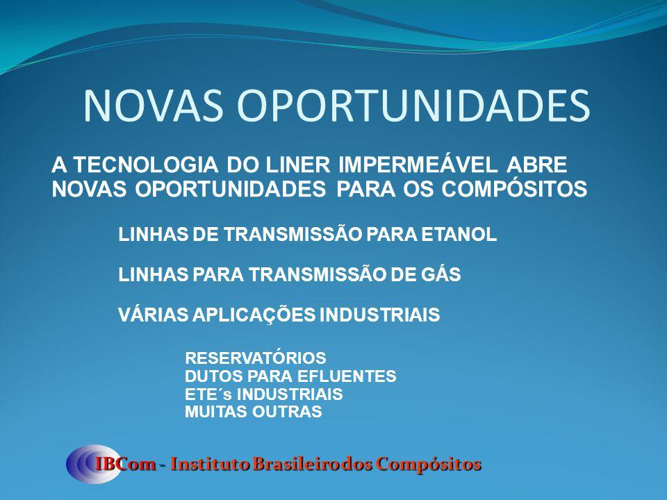 NOVAS OPORTUNIDADES A TECNOLOGIA DO LINER IMPERMEÁVEL ABRE NOVAS OPORTUNIDADES PARA OS COMPÓSITOS. LINHAS DE TRANSMISSÃO PARA ETANOL.