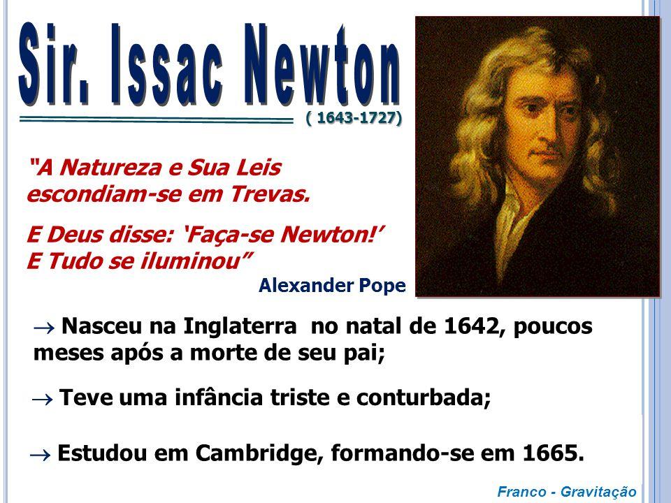 Sir. Issac Newton A Natureza e Sua Leis escondiam-se em Trevas.
