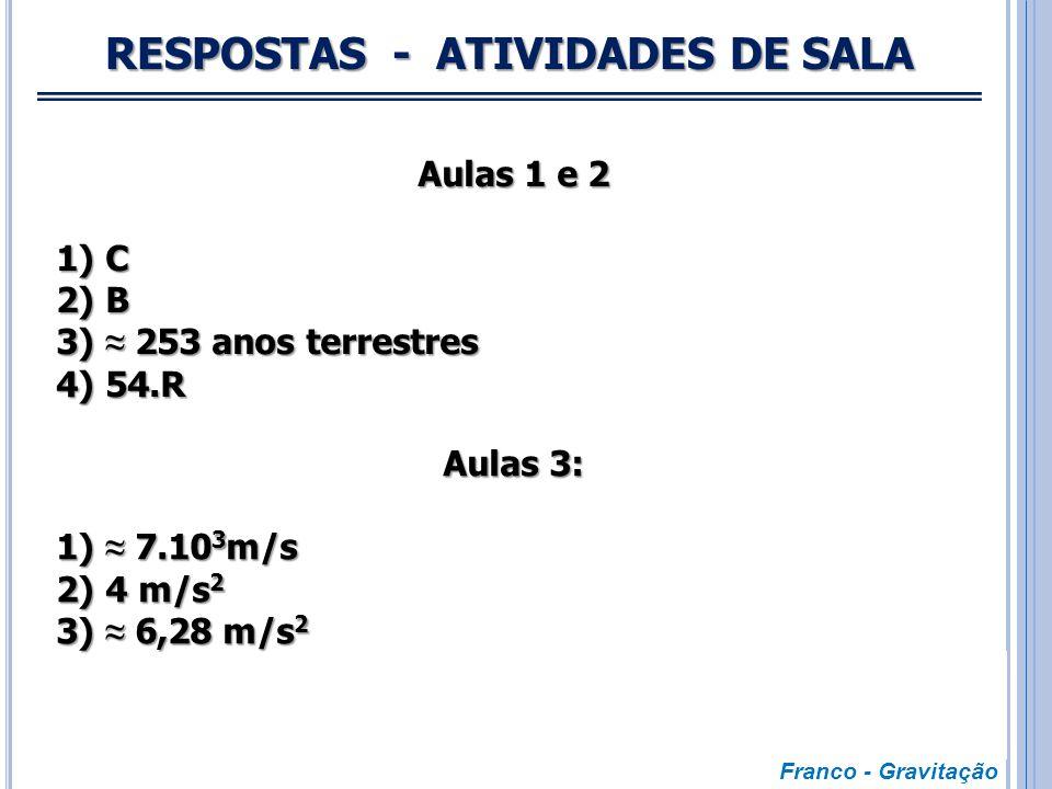 RESPOSTAS - ATIVIDADES DE SALA