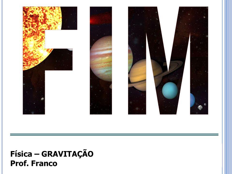 FIM Física – GRAVITAÇÃO Prof. Franco
