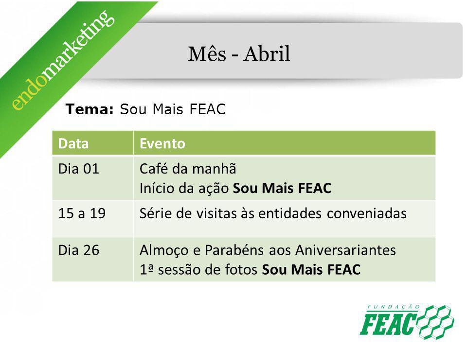 Mês - Abril Data Evento Dia 01