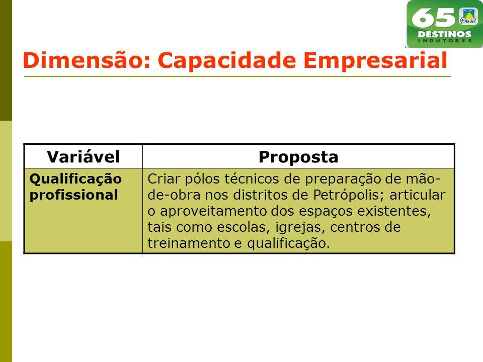 Dimensão: Capacidade Empresarial