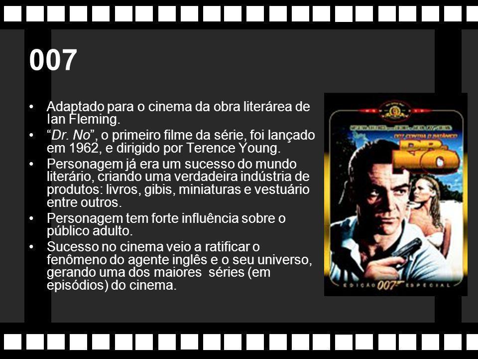 007 Adaptado para o cinema da obra literárea de Ian Fleming.