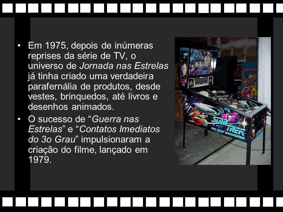 Em 1975, depois de inúmeras reprises da série de TV, o universo de Jornada nas Estrelas já tinha criado uma verdadeira parafernália de produtos, desde vestes, brinquedos, até livros e desenhos animados.