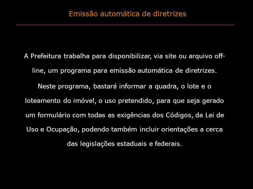 Emissão automática de diretrizes