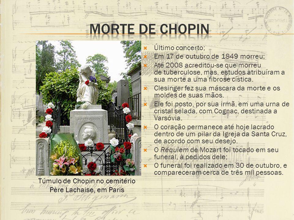 Túmulo de Chopin no cemitério Père Lachaise, em Paris