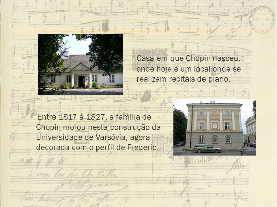 Casa em que Chopin nasceu, onde hoje é um local onde se realizam recitais de piano.