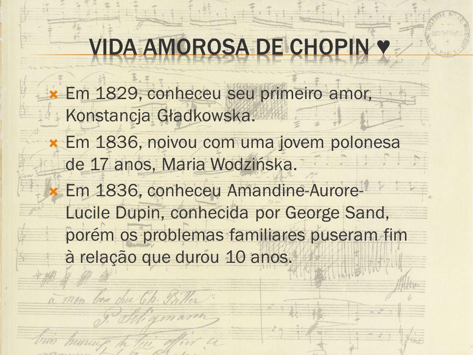 Vida amorosa de Chopin ♥