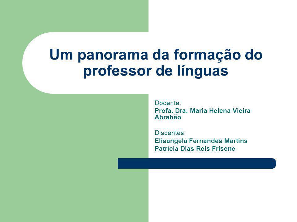 Um panorama da formação do professor de línguas