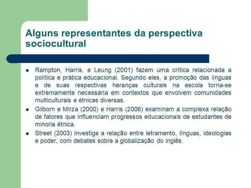 Alguns representantes da perspectiva sociocultural