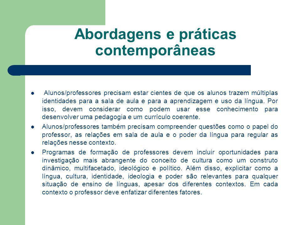 Abordagens e práticas contemporâneas