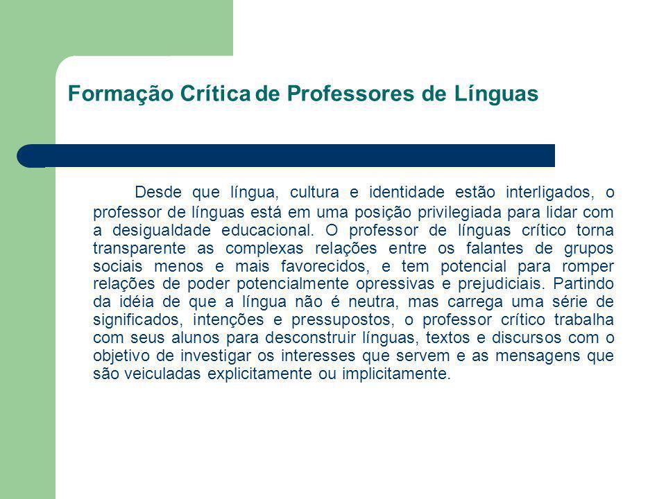 Formação Crítica de Professores de Línguas
