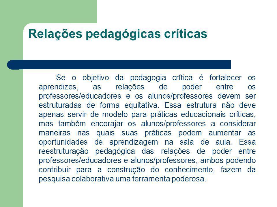 Relações pedagógicas críticas