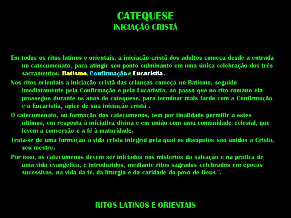CATEQUESE INICIAÇÃO CRISTÃ