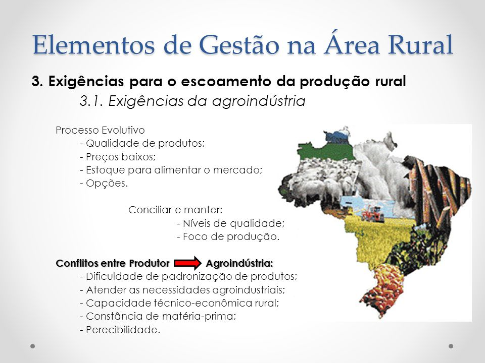 Elementos de Gestão na Área Rural
