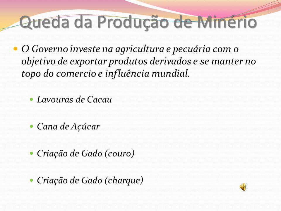 Queda da Produção de Minério