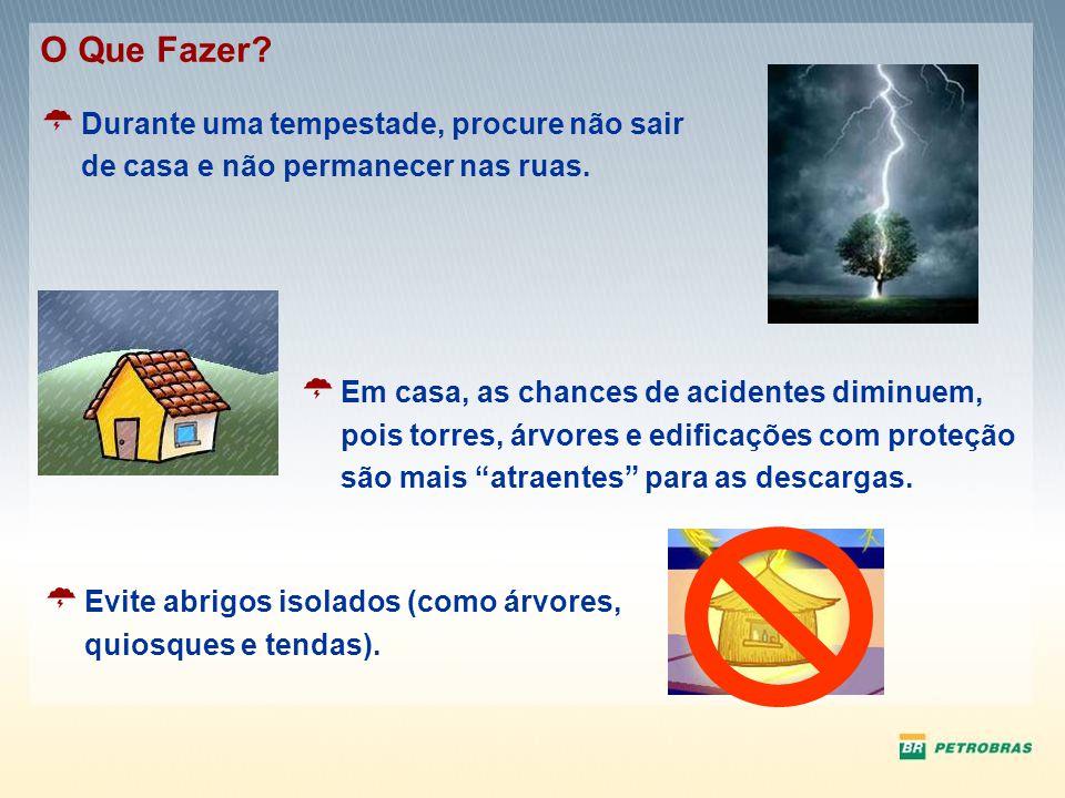 O Que Fazer Durante uma tempestade, procure não sair de casa e não permanecer nas ruas.