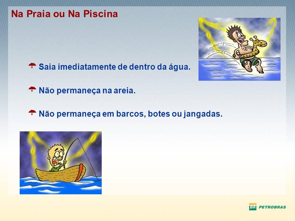 Na Praia ou Na Piscina Saia imediatamente de dentro da água.