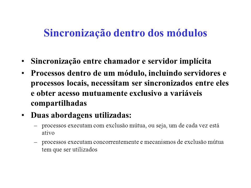 Sincronização dentro dos módulos
