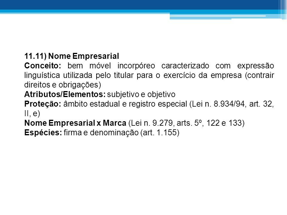 11.11) Nome Empresarial