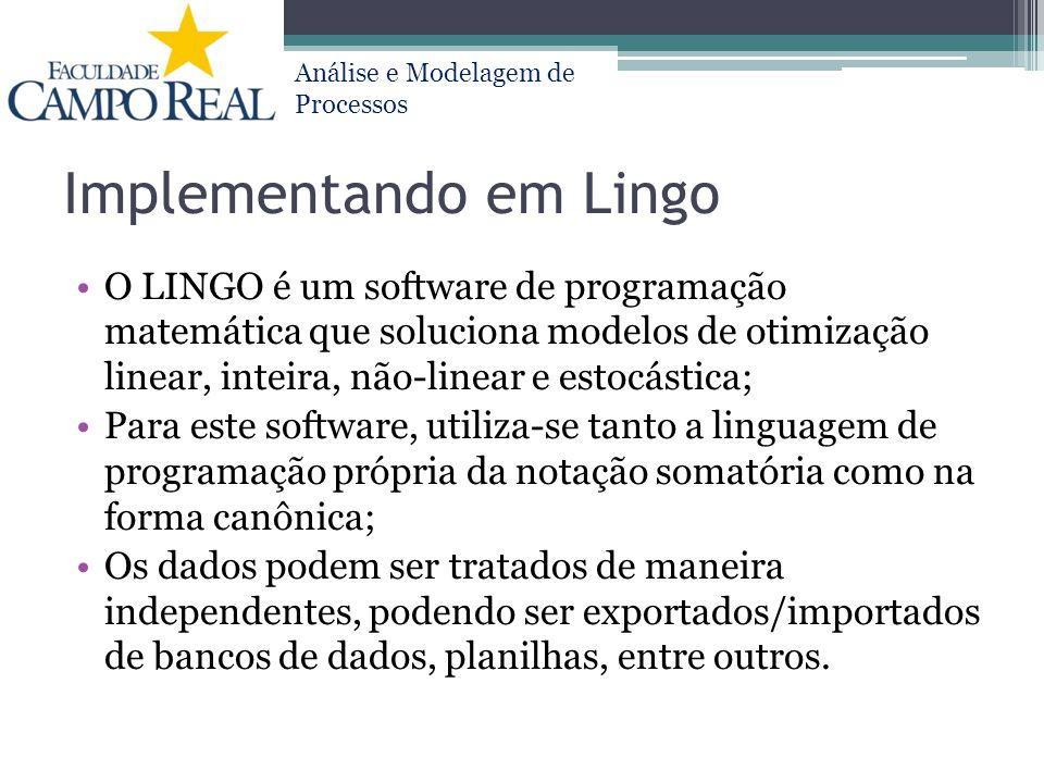 Implementando em Lingo